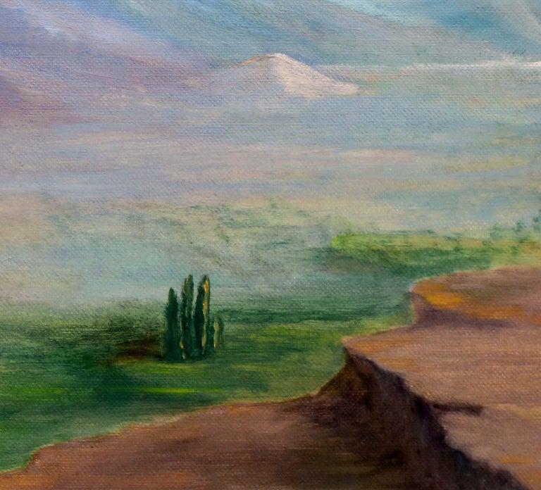 Homestead Beneath a Desert Mountain Landscape  For Sale 2