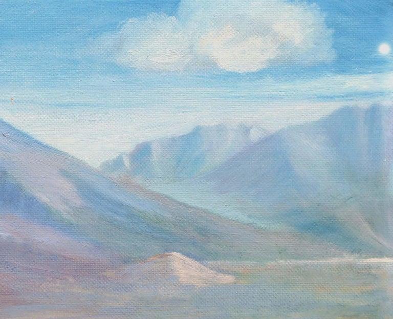 Homestead Beneath a Desert Mountain Landscape  For Sale 1