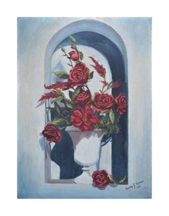 Rose and Amarath in Alcove Still Life