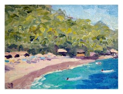 Day at the Beach, West Coast Figurative Landscape