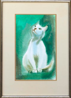 White Cat Watercolor