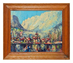 Fauvist Lake House Landscape