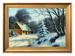 Winter's Cottage Landscape 1924