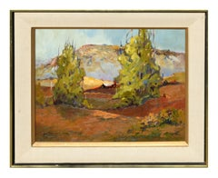 Mid Century California Bay Area Hills  Landscape