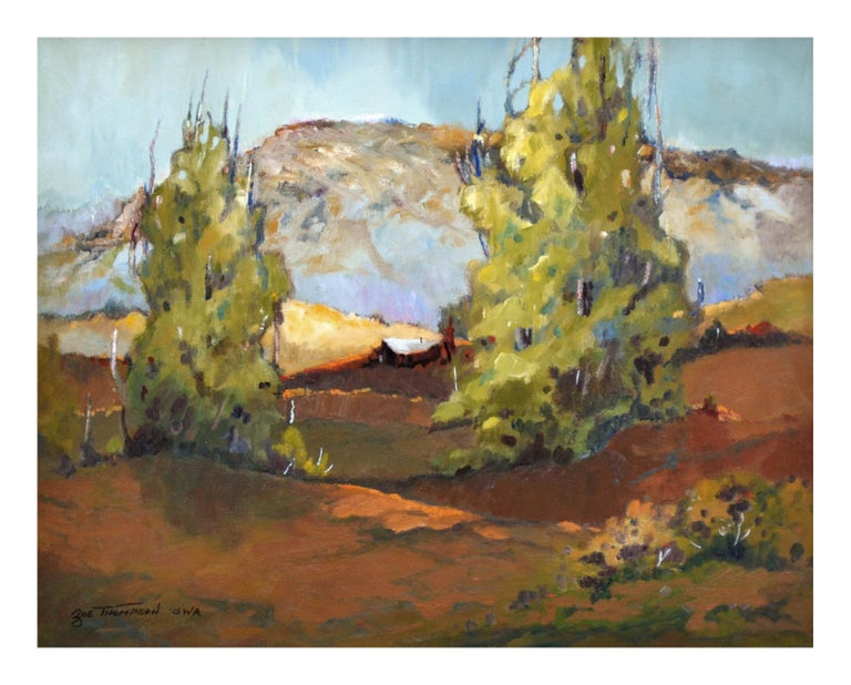 Mid Century California Bay Area Hills  Landscape - Painting by Zoe Thompson