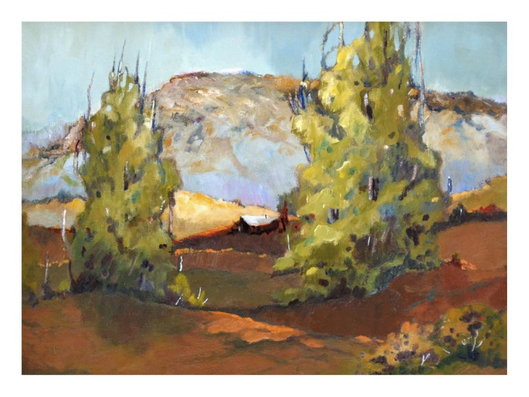 Mid Century California Bay Area Hills  Landscape - American Impressionist Painting by Zoe Thompson