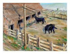 Grazing Cows - Farm Landscape