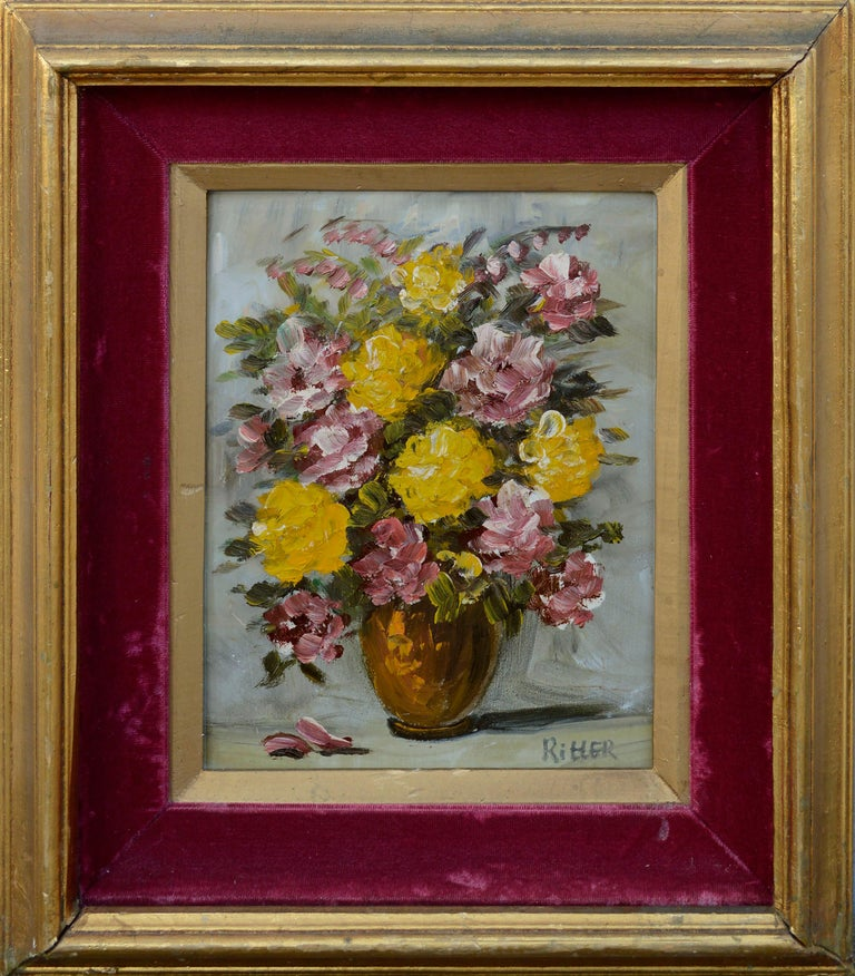 Ritter Interior Painting - Mid Century Floral Bouquet Still-Life