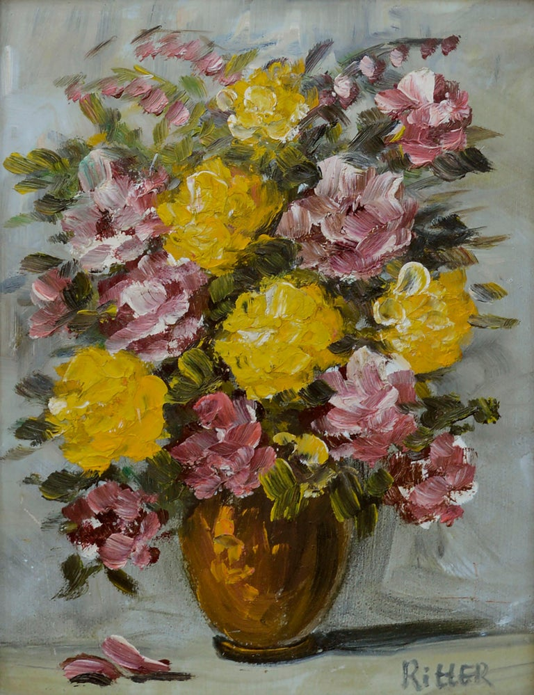Mid Century Floral Bouquet Still-Life  - Painting by Ritter
