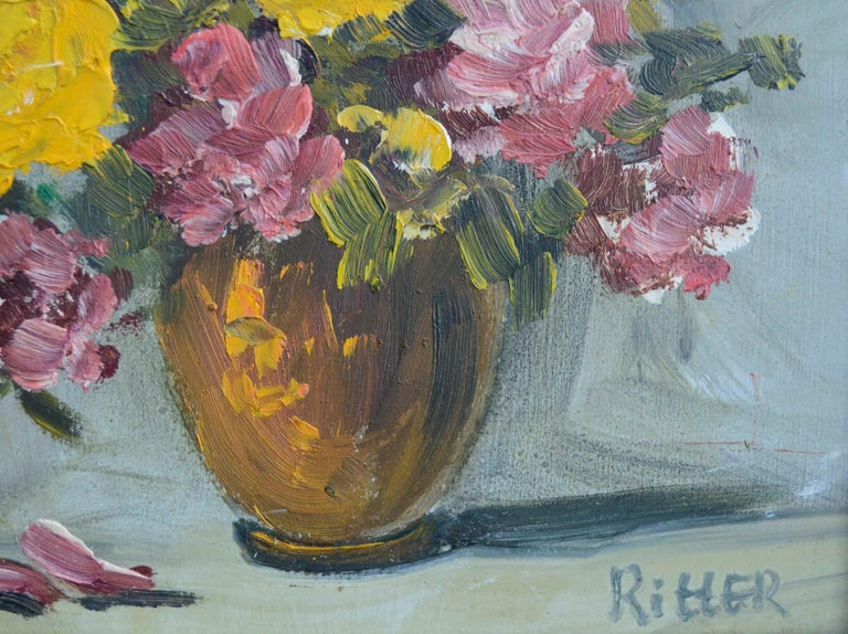 Mid Century Floral Bouquet Still-Life  - American Impressionist Painting by Ritter