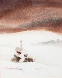 Snowy Pine - Minimal Winter Landscape