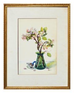 Floral Still-Life with Magnolias & Goose