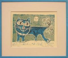 Mid Century Batik Cat