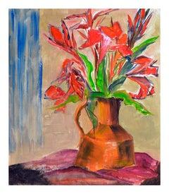 Modern Tiger Lilies Still Life