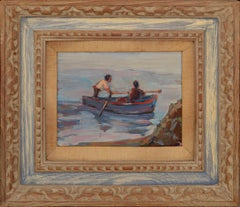 Off Point Lobos Mid Century Figurative Seascape by Keith Lindberg