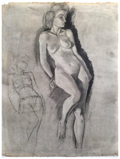 Mid Century Nude Figure Study
