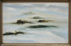 Mid Century Abstracted Landscape Adobe Houses