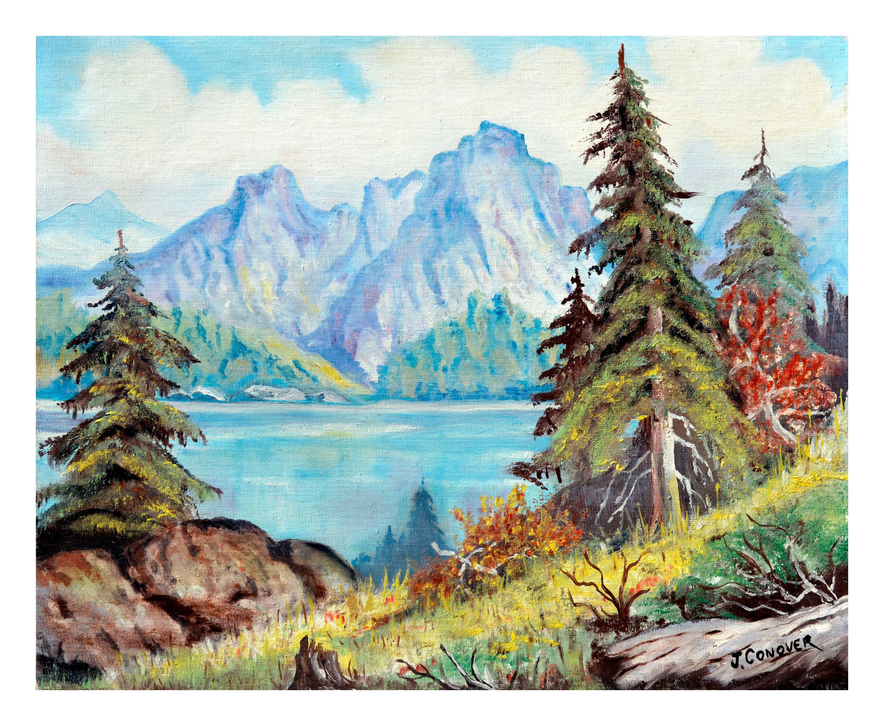 Sierra Mountains Reflecting on Tahoe Lake