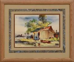 On the Bayou - Figurative Landscape by Charles Reinike Sr.