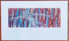 Avant-Garde Figurative Lithograph -- Icarus