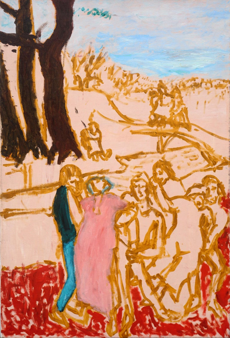 Michael Pauker  Figurative Painting - Europa - the abduction