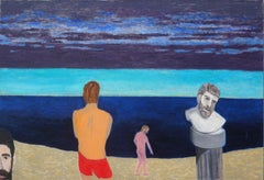 Men at the Beach Figural Abstract