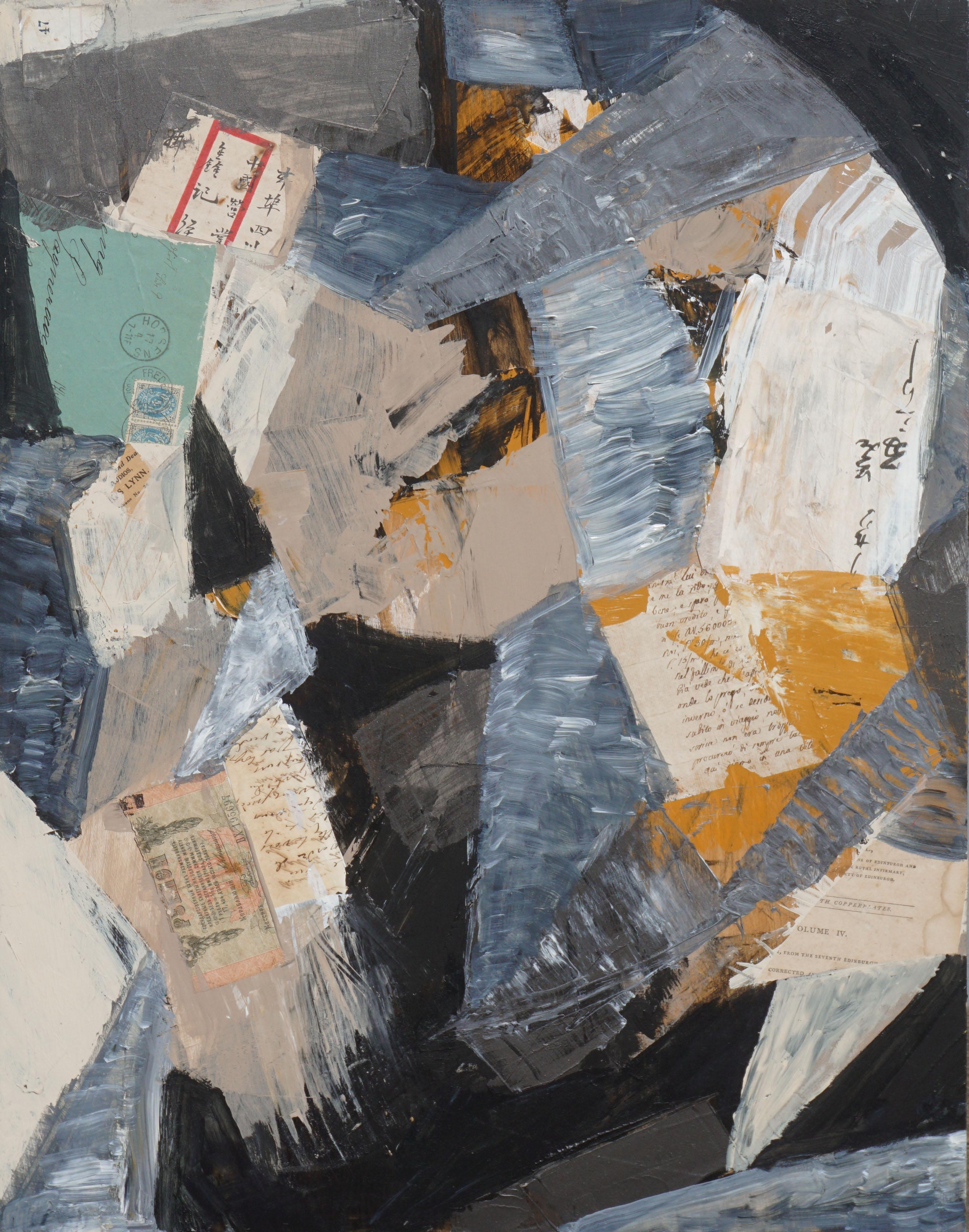 Edinburgh Collage painting by Michael Pauker
