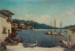 Mid Century Lake Como, Northern Italy Landscape
