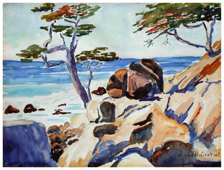 John H. Gratiot Landscape Painting - Carmel Cypress Trees Landscape