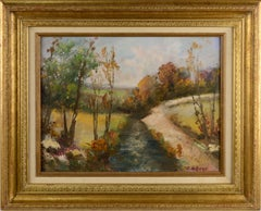 Bucks County, Country Lane - Mid Century Landscape