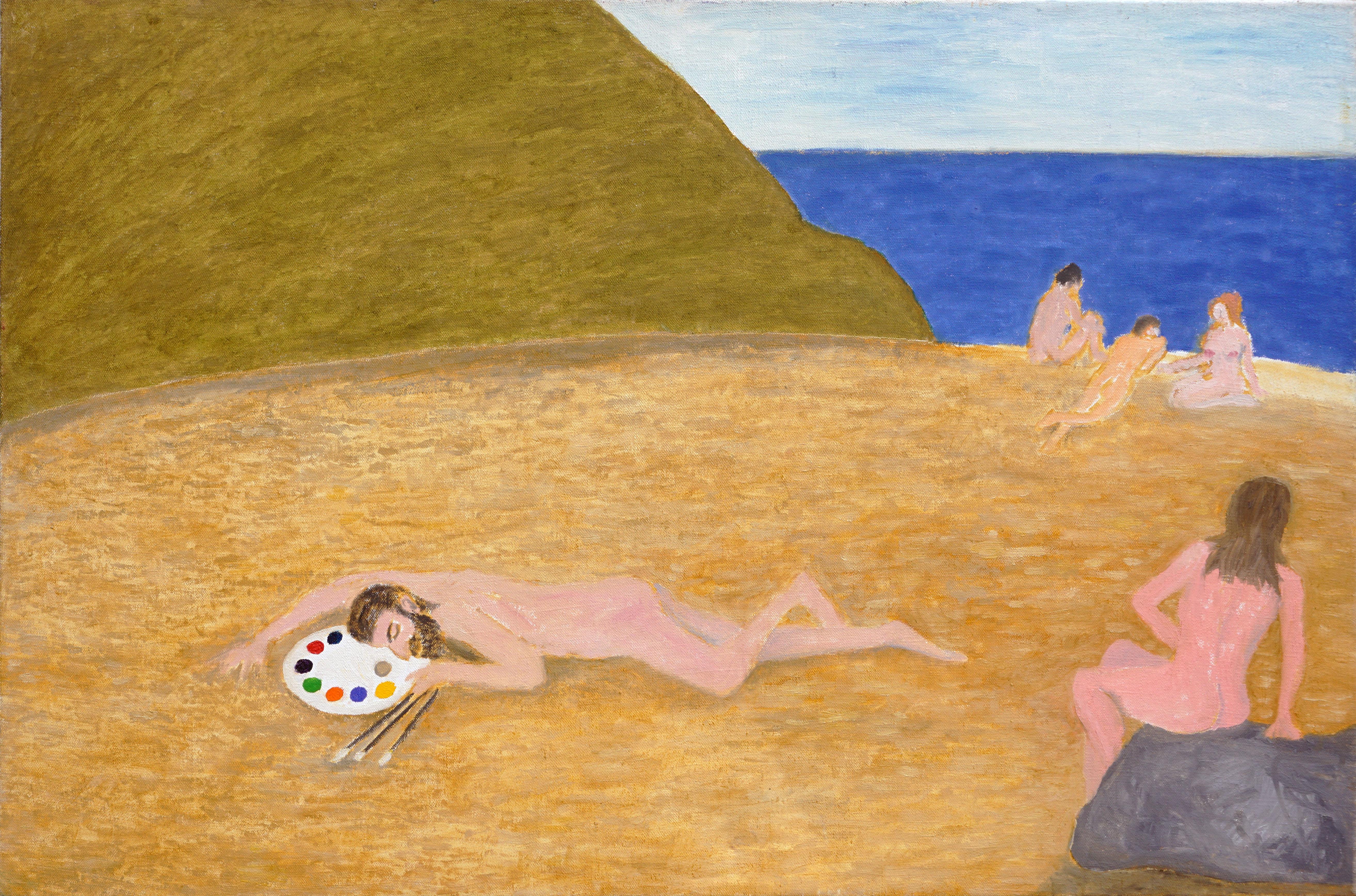 Nudes on the Beach Figurative