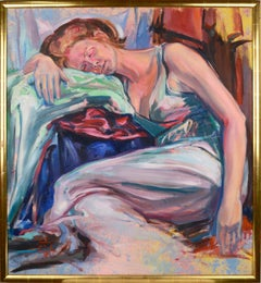 Dreaming in Color - Reclining Female Figure