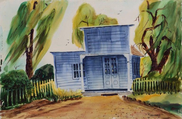 L. Heebner Landscape Painting - Returning Home Farmhouse Watsonville California