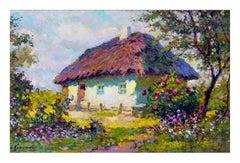 Spring Cottage Landscape