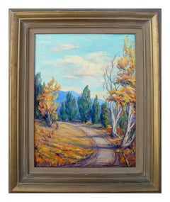 Mid Century High Mountain Road Landscape