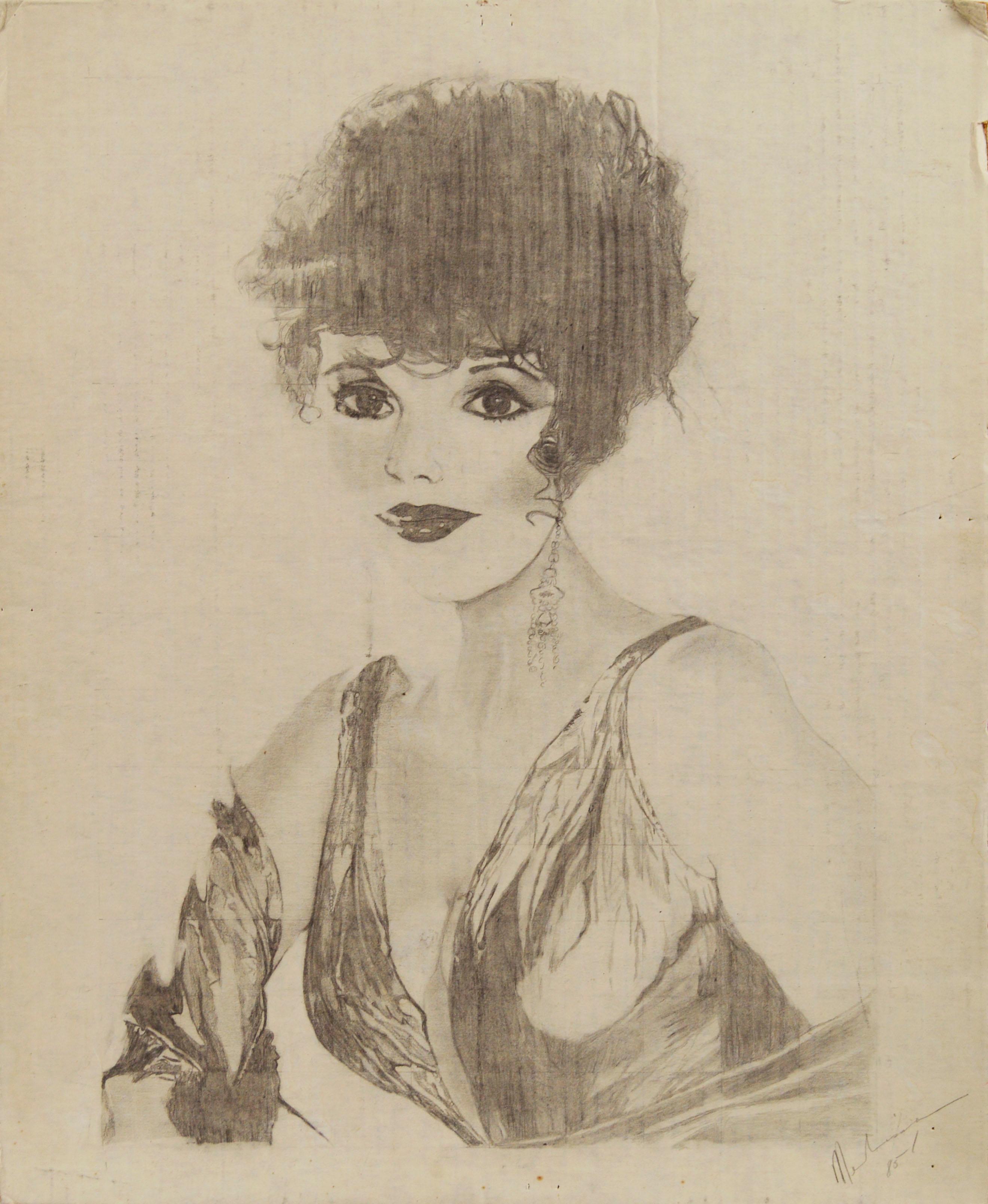 1985 Joan Collins Portrait by Louis Nadalini