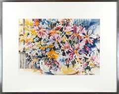 Summer Bouquet - Floral Watercolor Still Life