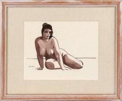 Nude Brunette Woman - Bay Area Figurative Movement Figurative