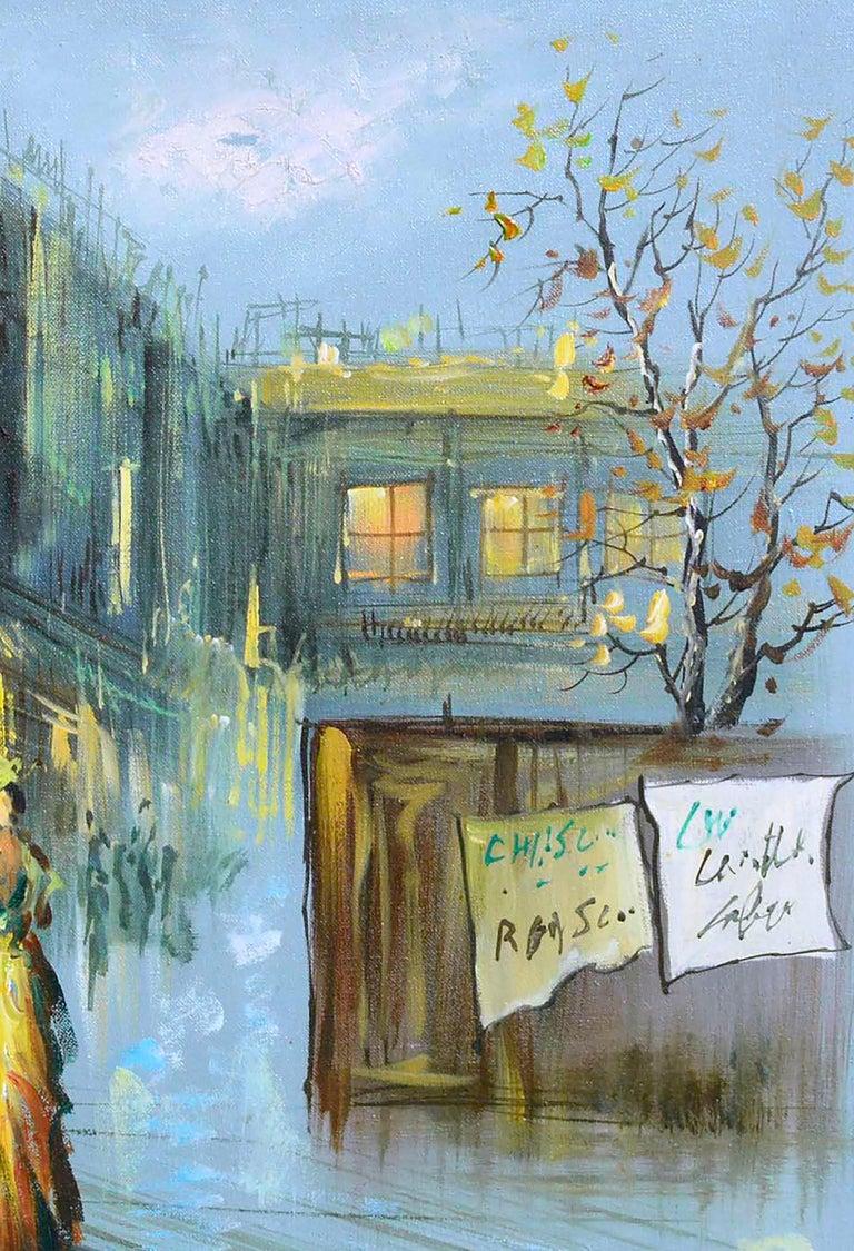 French Street Scene - Figurative Landscape  For Sale 2