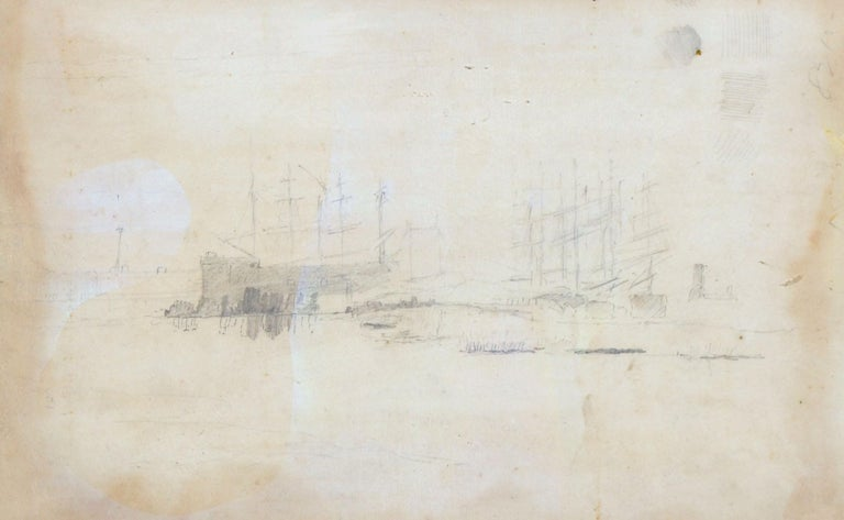 Landscape of Boats at San Francisco Port 1887 For Sale 1