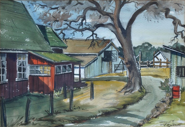 Drive to the Ranch - Art by V Burnett