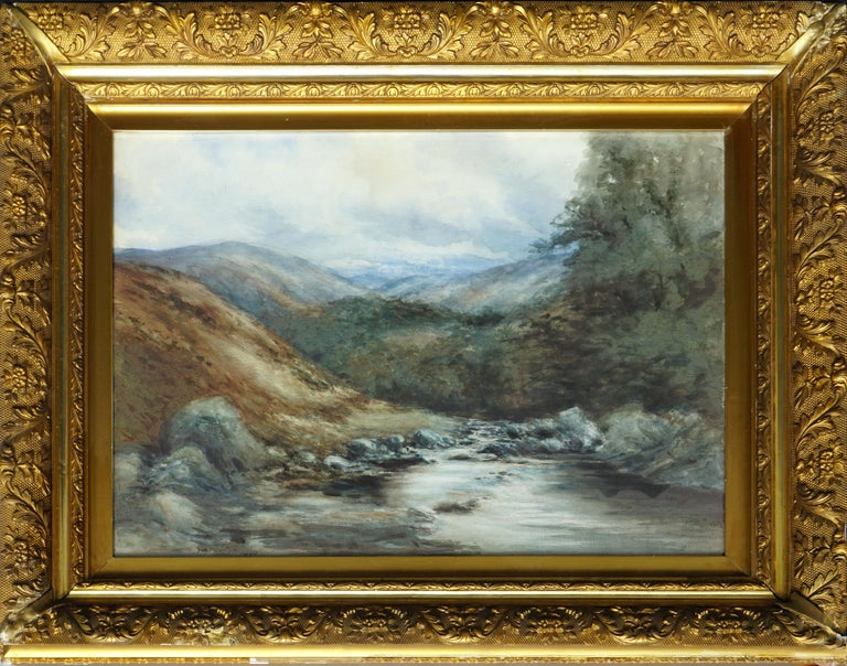 George S. Cathro Landscape Painting - The River Dee, Balmoral, Scotland - Landscape