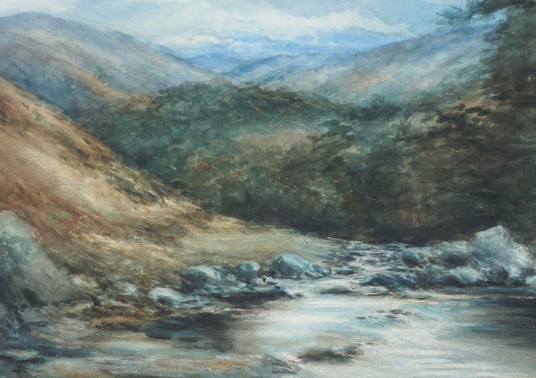 The River Dee, Balmoral, Scotland - Landscape - Impressionist Painting by George S. Cathro
