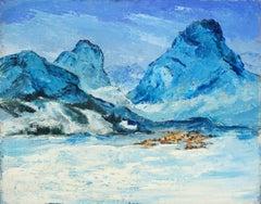 Mid Century Landscape of the Matterhorn