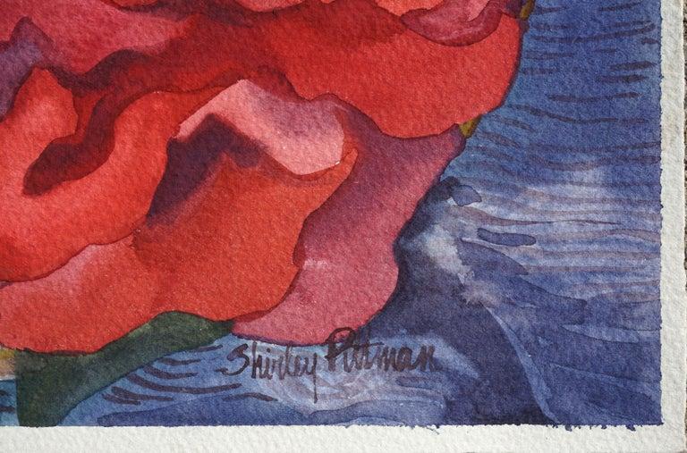 Camellias Still Life - American Impressionist Art by Shirley Putman
