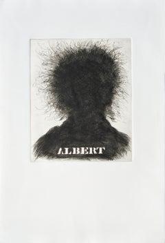 """""""Albert"""",  Albert Einstein Portrait Silhouette"""