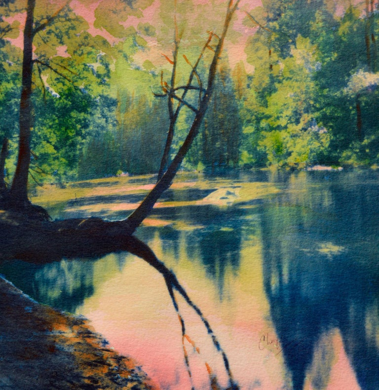 Forest Reflections  - Impressionist Mixed Media Art by Cheryl Trotter