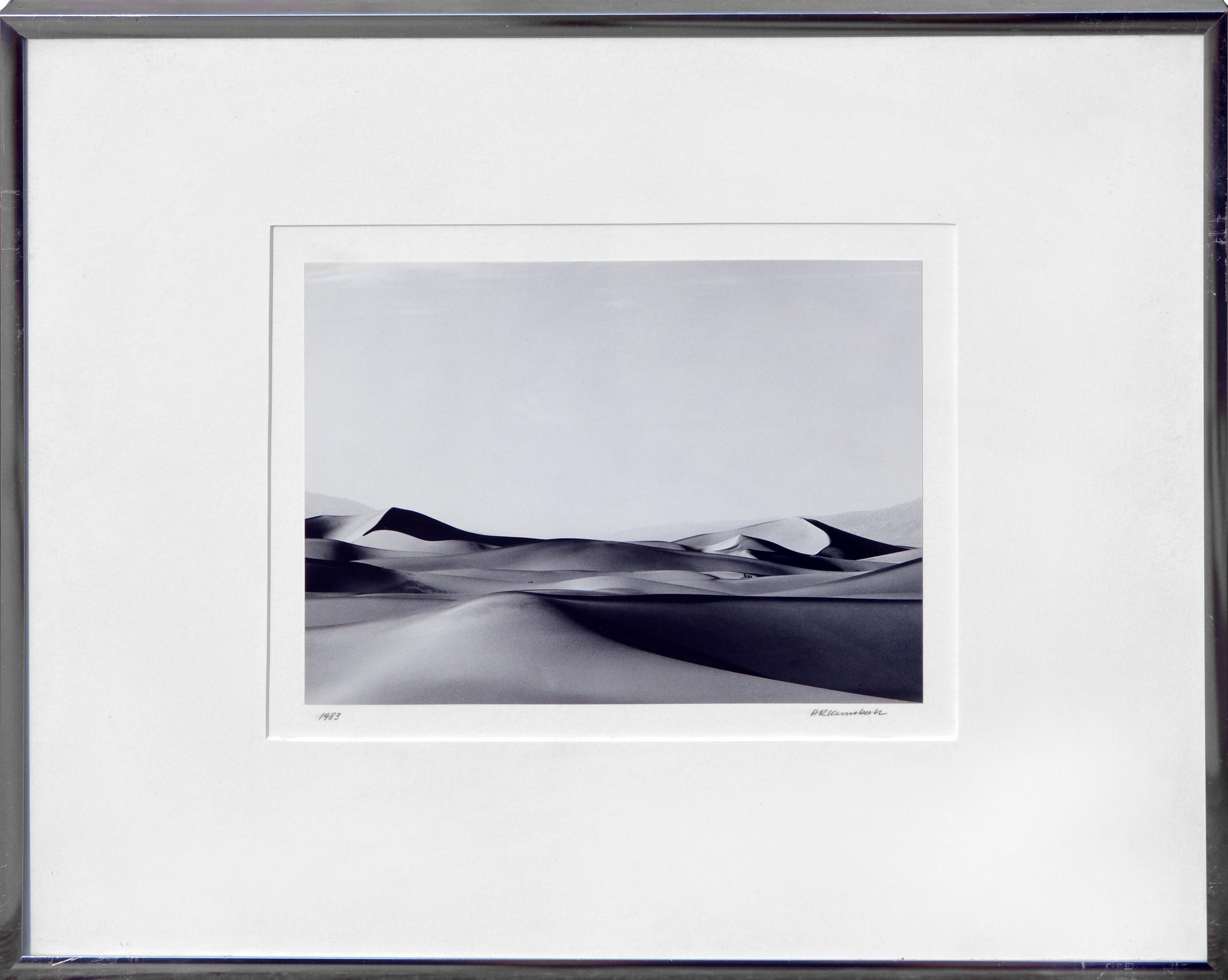 """Sand Dunes Death Valley"" - Minimal Desert Black & White Landscape Photograph"