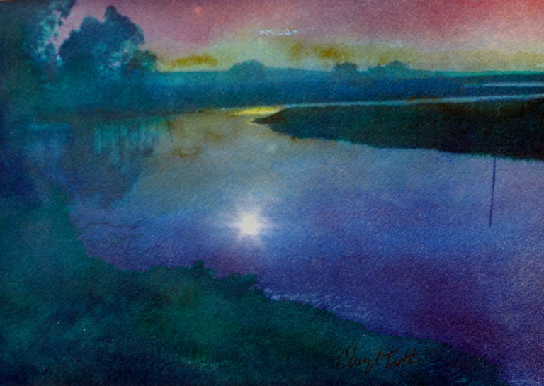 Elkhorn Slough - American Impressionist Mixed Media Art by Cheryl Trotter