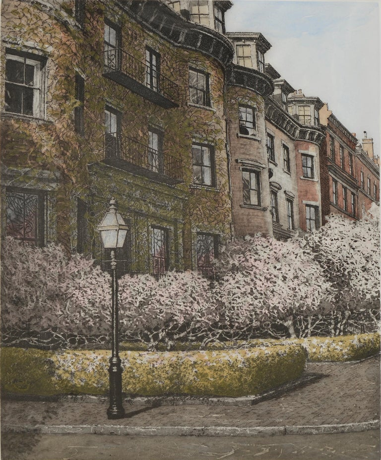 Magnolia, Beacon Hill Boston - Print by John Collette